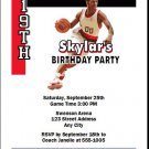Portland Trailblazers Colored Basketball Party Invite