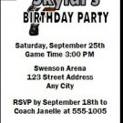 Toronto Raptors Colored Basketball Party Ticket Invitations
