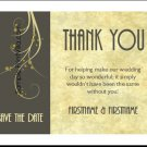 Chocolate Parchment Wedding Thank You Cards
