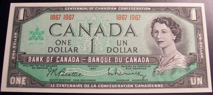 Canada 1967 Commemorative $1 note