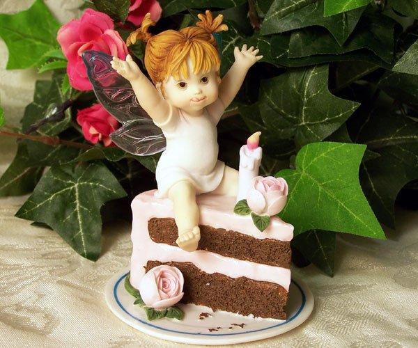 Kitchen Fairy with Birthday Cake