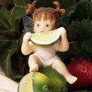 Kitchen Fairy Eating Lime