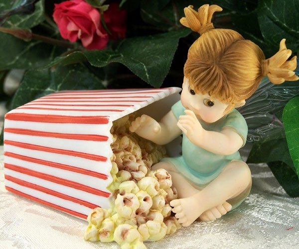 Kitchen Fairy Eating Popcorn