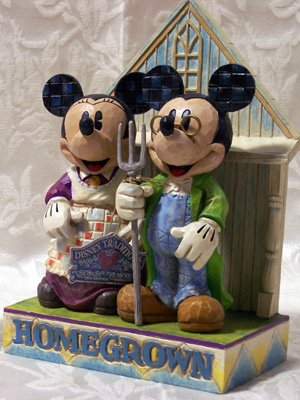 Jim Shore Mickey & Minnie Homegrown