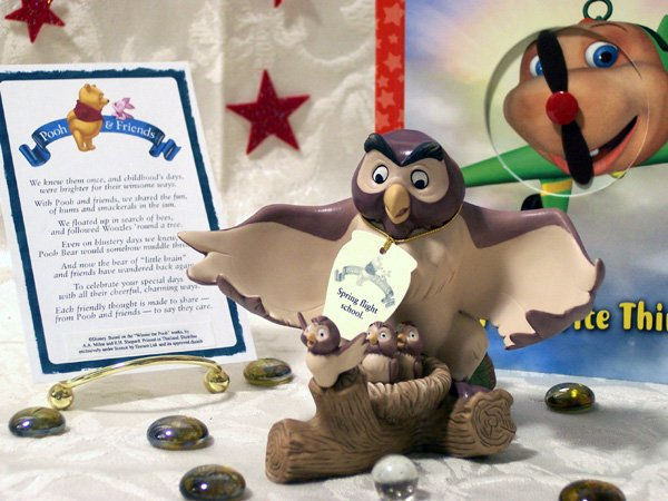 Disney Owl with Baby Birds Figurine