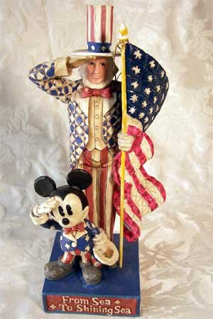 Jim Shore Disney American Originals Mickey & Uncle Sam