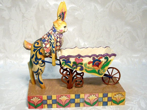 Jim Shore Heartwood Creek Bunny & Wheelbarrow
