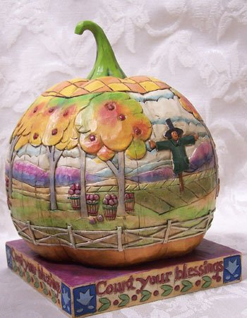 Jim Shore Count You Blessings Pumpkin