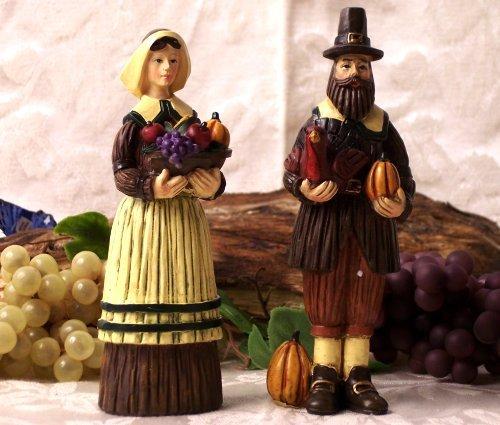 Pilgrim Man & Woman Figures