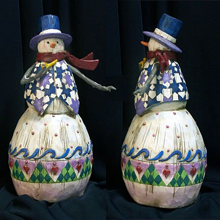 Jim Shore Snowman with Pipe