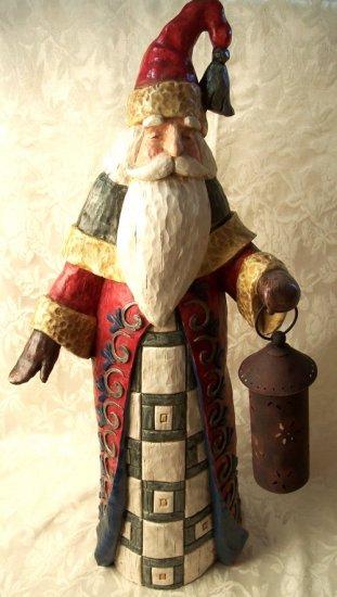 im Shore HUGE Santa Claus Holding Lantern