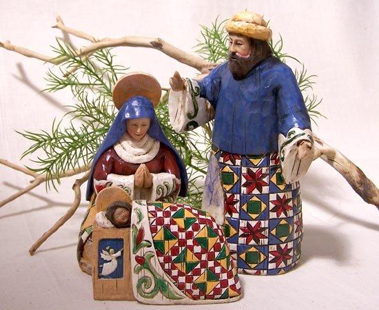 Jim Shore Holy Family 3 Pc Set
