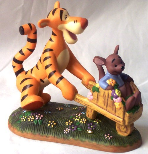Disney Tigger With Roo in Wheelbarrow