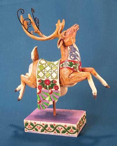 Jim Shore Heartwood Creek Green Reindeer