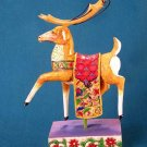 Jim Shore Heartwood Creek Red Blanket Reindeer