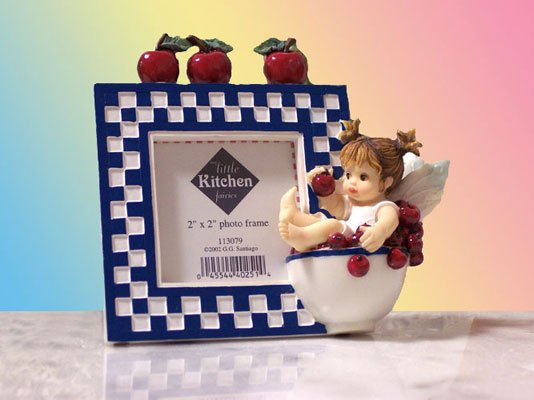 Kitchen Fairy Bowl of Cherries Photo Frame