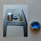 STAR TREK TOS PHASER PROP METAL P1 BEZEL &  BLUE JEWEL / PART