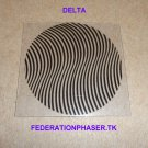 "STAR TREK COMMUNICATOR DELTA STYLE PATTERN MOIRE PRINTED ON 0.020"" THICK CLEAR PLASTIC"