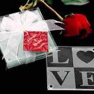 LOVE Glass Coaster Wedding Favors Set