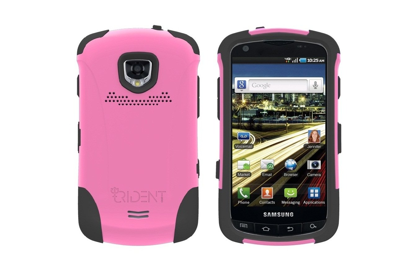 TRIDENT Pink AEGIS Case for Samsung DROID CHARGE i510 Hybrid SKIN + HARD Cover + Screen Protector