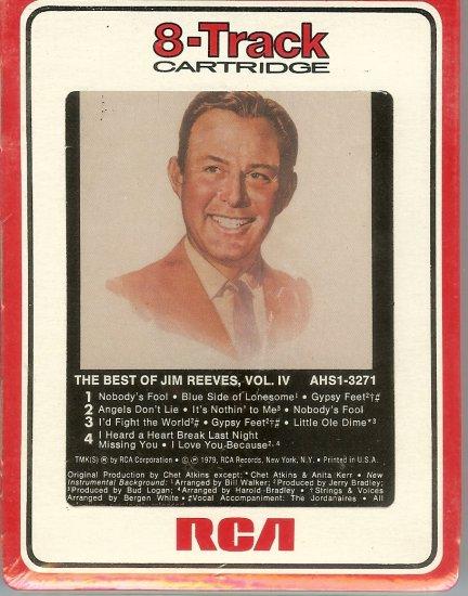 Jim Reeves - The Best of Jim Reeves Volume IV Sealed 8-track tape