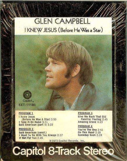 Glen Campbell - I Knew Jesus Sealed 8-track tape