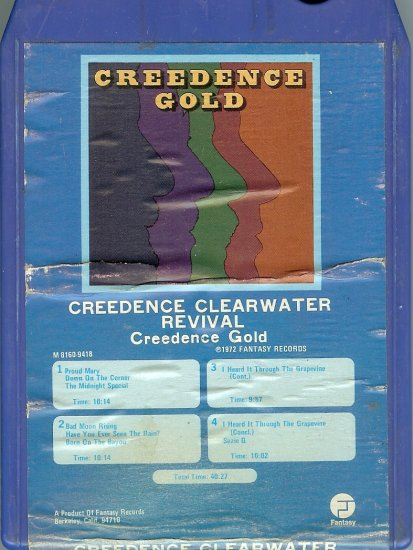 Creedence Clearwater Revival -  Creedence Gold 1972 GRT A21B 8-track tape