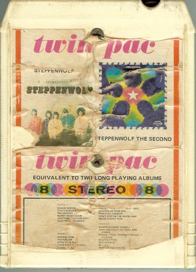 Steppenwolf - Steppenwolf + The Second Double Album GRT DUNHILL 8-track tape