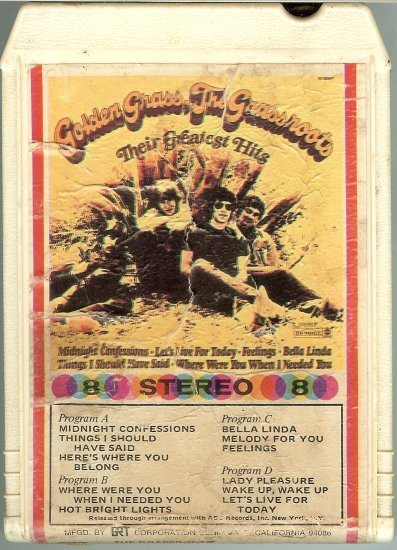 The Grass Roots - Golden Grass Their Greatest Hits A19B 8-track tape