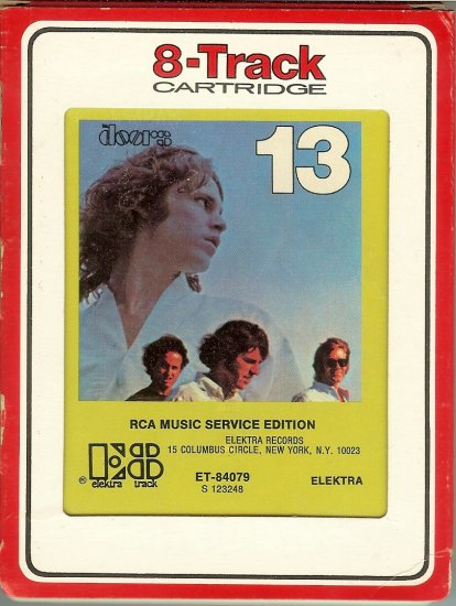 The Doors - Doors 13 1970 RCA ELEKTRA Re-issue 8-track tape