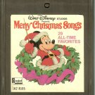Walt Disney Studios - Merry Christmas Songs 29 All-Time Favorites 1978 DISNEY 8-track tape