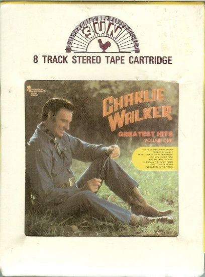 Charlie Walker - Greatest Hits Volume 1 Sealed 8-track tape