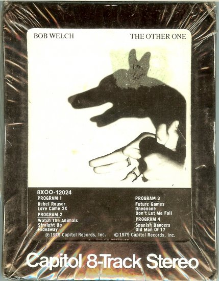 Bob Welch - The Other One Sealed 8-track tape
