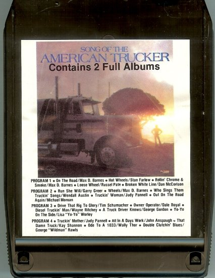 Song of the American Trucker - Various Artists LAKESHORE 8-track tape