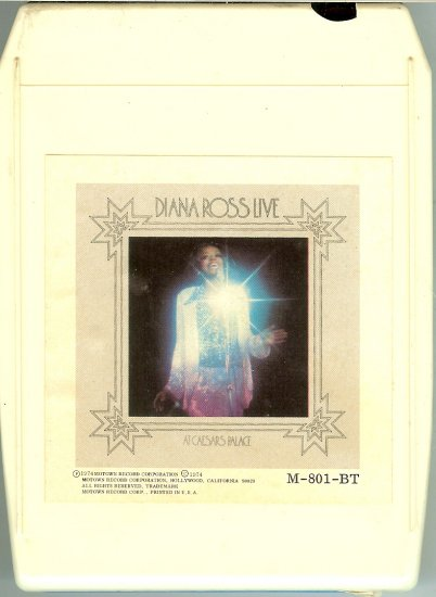Diana Ross - Diana Ross Live at Caesar's Palace 1974 MOTOWN 8-track tape