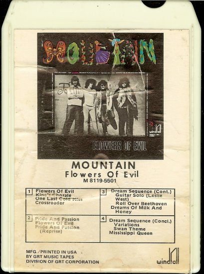 Mountain - Flowers Of Evil 1971 GRT 8-track tape
