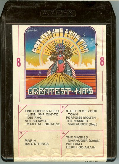 Country Joe And The Fish - Greatest Hits 1969 AMPEX VANGUARD 8-track tape
