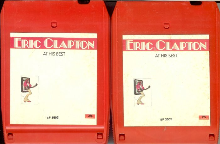 Eric Clapton - At His Best 1972 Vol. 1 & 2 POLYDOR 8-track tape