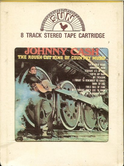 Johnny Cash - The Rough Cut Of Country Music 1970 SUN 8-track tape