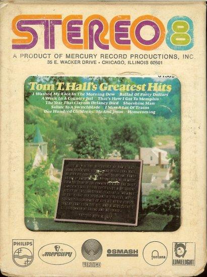 Tom T. Hall - Greatest Hits MERCURY 8-track tape