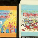 Chipmunks - Christmas With The Chipmunks Vol. 1 & 2 MISTLETOE 8-track tapes