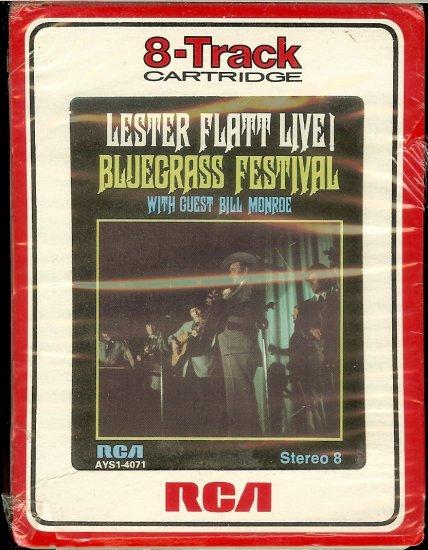 Lester Flatt / Bill Monroe - Live Bluegrass Festival 1974 RCA 8-track tape