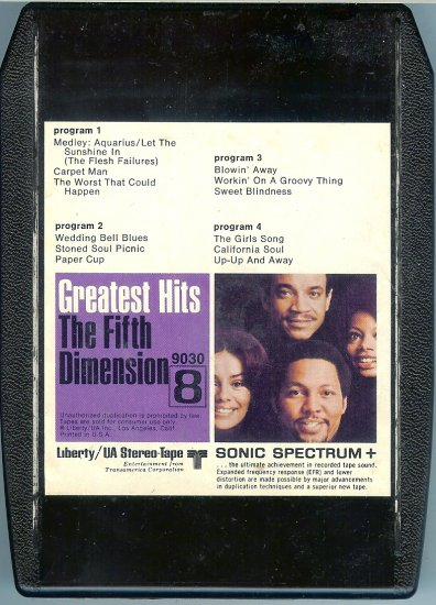 The 5th Dimension - Greatest Hits 8-track tape