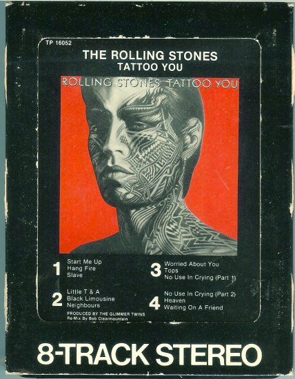 The Rolling Stones - Tattoo You 8-track tape