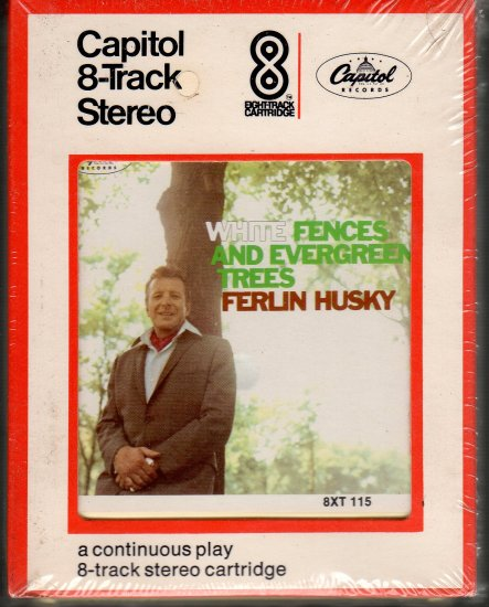 Ferlin Husky - White Fences And Evergreen Trees Sealed 8-track tape