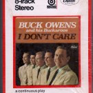 Buck Owens - I Don't Care Sealed 8-track tape