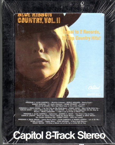 Capitol Blue Ribbon Country Volume II 20 Top Hits and Artists Sealed 8-track tape