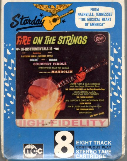 Fire On The Strings - 16 Country Instrumentals Sealed Starday L55-221 8-track tape