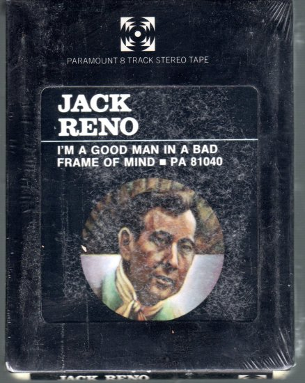 Jack Reno - I'm A Good Man In A Wrong Frame Of Mind Sealed 8-track tape