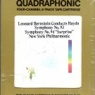 Leonard Bernstein - Haydn Symphony No.93 Symphony 94 N.Y. Philharmonic Quadraphonic 8-track tape